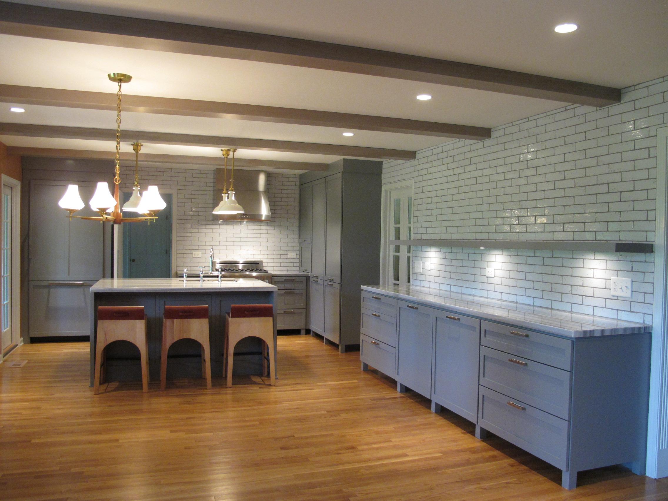 Grey Kitchen Backsplash